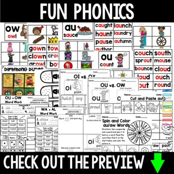 Words Their Way Within Word Pattern Spellers Unit 6 Diphthongs