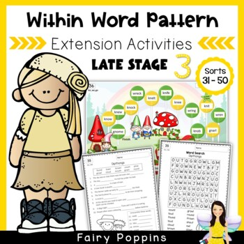Within Word Pattern Games & Worksheets (Unit 7) Consonant Clusters