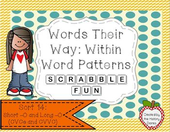Words Their Way: Within Word Patterns Scrabble Fun: Sort 14