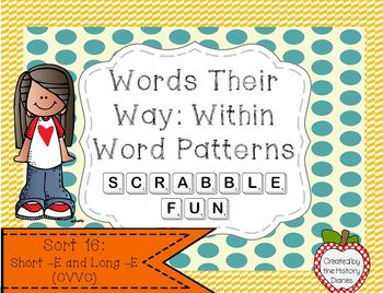 Words Their Way: Within Word Patterns Scrabble Fun: Sort 16
