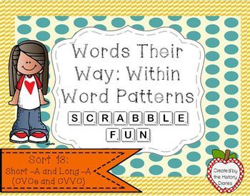 Words Their Way: Within Word Patterns Scrabble Fun: Sort 13