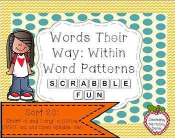 Words Their Way: Within Word Patterns Scrabble Fun: Sort 20