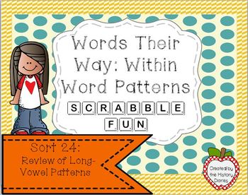 Words Their Way: Within Word Patterns Scrabble Fun: Sort 24
