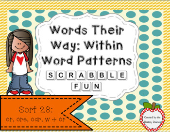 Words Their Way: Within Word Patterns Scrabble Fun: Sort 28