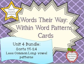 Words Their Way: Within Word Patterns: Unit 4: BUNDLE