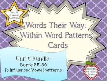 Words Their Way: Within Word Patterns: Unit 5: BUNDLE