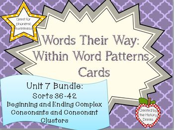 Words Their Way: Within Word Patterns: Unit 7 BUNDLE