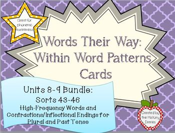 Words Their Way: Within Word Patterns: Unit 8-9 BUNDLES