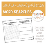 Words Their Way Within Word Patterns Word Searches