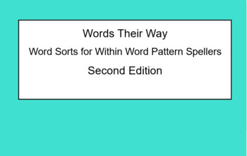Words Their Way Within Word SmartNotebook Sort