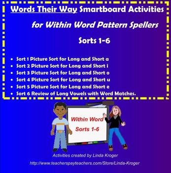Words Their Way-Within Word Sorts 1-6 Interactive Games (Long and Short Vowels)