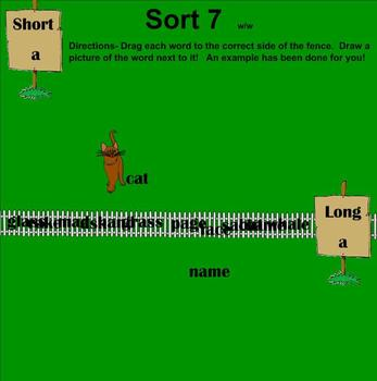 Words Their Way-Within Word Sorts 7-12 Interactive Games (Short and Long Vowels)