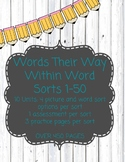 Words Their Way: Within Word: Spelling Sorts, Assessments and Practice Pages