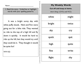 Words Their Way Within Words 21-30