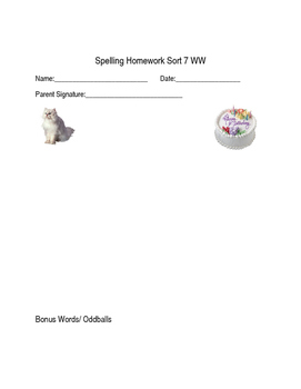 Words Their Way Within Words Homework and Quiz Sort 1-48 (2003)