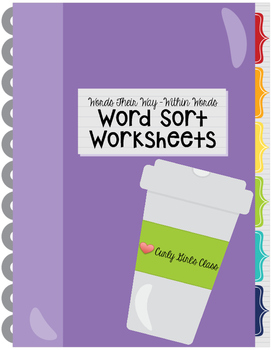 Words Their Way Within Words Work Sheets
