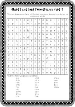 Words Their Way Within Words word searches for sorts 7-50