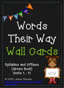 Words Their Way - Word Cards