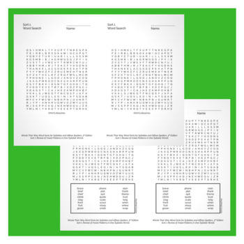 Words Their Way Word Search Bundle - 3rd Edition