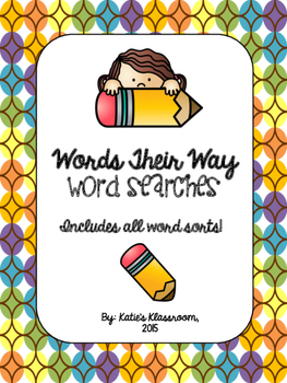 Words Their Way Word Searches