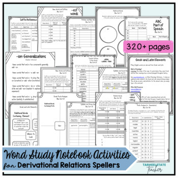 Words Their Way Derivational Relations Spellers Word Study Notebook Activities