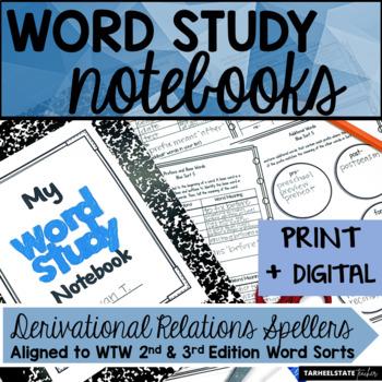 Derivational Relations Spellers Word Study Notebook Activities
