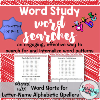 Letter-Name Alphabetic Spellers Word Searches Primary Version