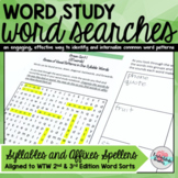 Syllables and Affixes Words Their Way Word Searches