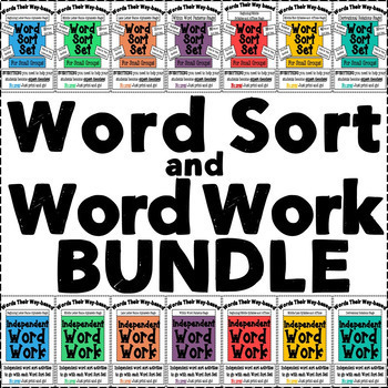 Words Their Way Word Sort Set and Word Work Complete Bundle