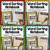Words Their Way --- Word Sorting Notebook BUNDLE