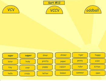 Spelling Syllables and Affixes Word Sorts 10-28