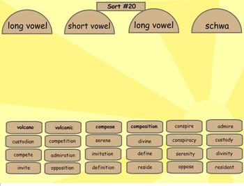 Spelling Derivational Relations Word Sorts 14-42