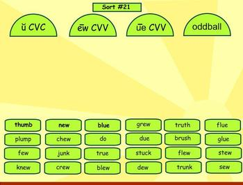 Spelling Within Word Pattern Word Sorts 19-24