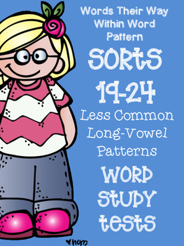Words Their Way Word Sorts 19-24 Word Study / Spelling Tests