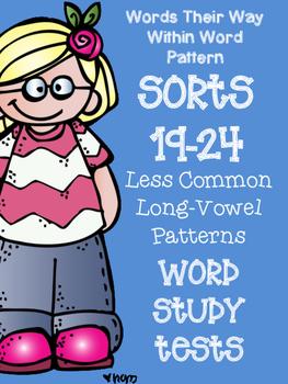 Words Their Way Word Sorts 19-24 Word Study / Spelling Tests