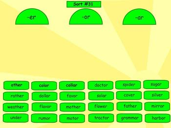 Spelling Syllables and Affixes Word Sorts 29-38