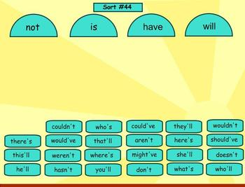 Spelling Within Word Pattern Word Sorts 25-50