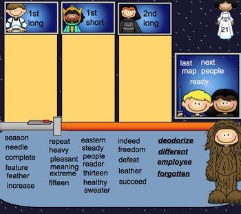 Words Their Way Word Sorts for Syllables and Affixes Spellers WORD BOARD