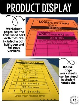 Words Their Way: Word Study Activity Pages