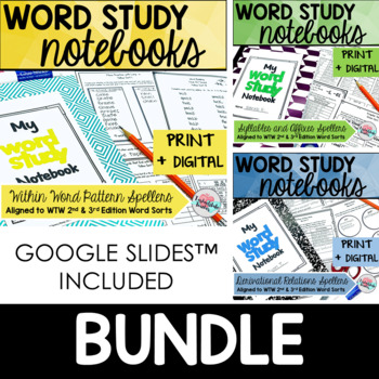 Words Their Way Word Study Notebook Activities {3rd Edition} BUNDLE