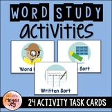 Word Study Activities for Any List