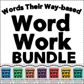 Words Their Way based Independent Word Work Bundle
