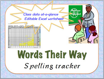Words Their Way class spreadsheet for Elementary and Upper Level
