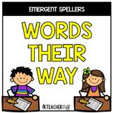 Words Their Way for Emergent Spellers Homework