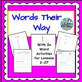 Words Their Way homework and Word Work Activities for sorts 2-27