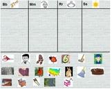 Words Their Way sort 1 alphabetic spellers