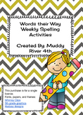 Words Their Way student sort direction sheet and homework choice board