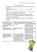 Words Their Way student sort direction sheet and homework