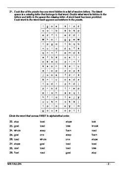 Words Their Way workbook - Within word pattern sort 14 (Short/Long O CVCe)