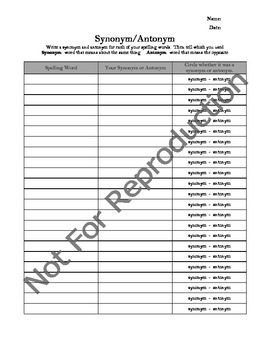 Words Their Way/Word Work Activity Packet